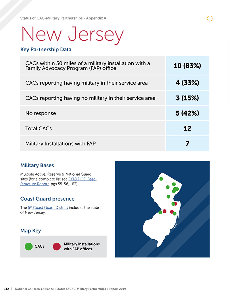 New Jersey example report page